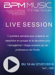 Première Live Session de BPM Music à partir du 16 juillet