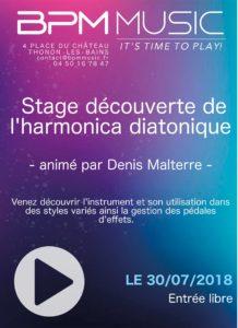 Stage gratuit de découverte de l' harmonica diatonique chez BPM Music